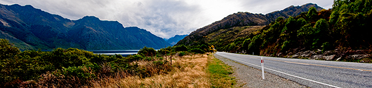 The straightest road in NZ (Photo by Andras Ikladi)